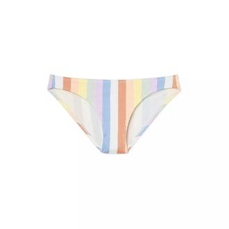 Juniors' Ribbed Cheeky Bikini Bottom
