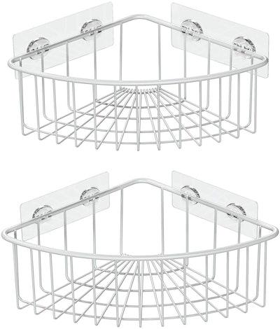 SMARTAKE Corner Shower Caddy Baskets (2-Pack)
