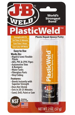 J-B Weld Plastic Repair Epoxy Putty