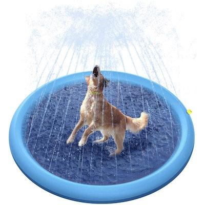 Peteast Splash Sprinkler Pad for Dogs