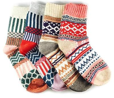 JOYCA & Co Wool Socks (4-Pack)