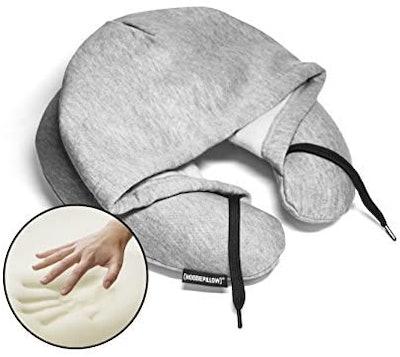 HoodiePillow Memory Foam Travel Pillow