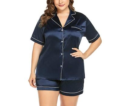 IN'VOLAND Plus Size Pajama Set (2-Pieces)