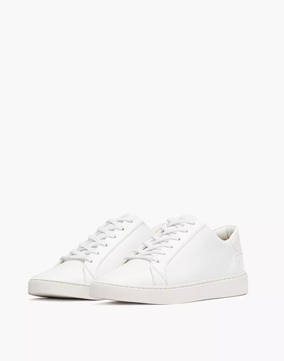 Vegan Leather Lace-Up Sneakers