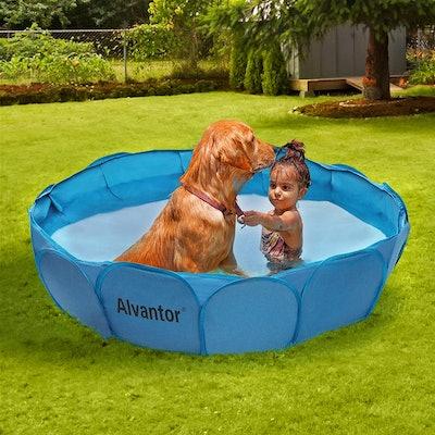 Alvantor Portable Dog Swimming Pool