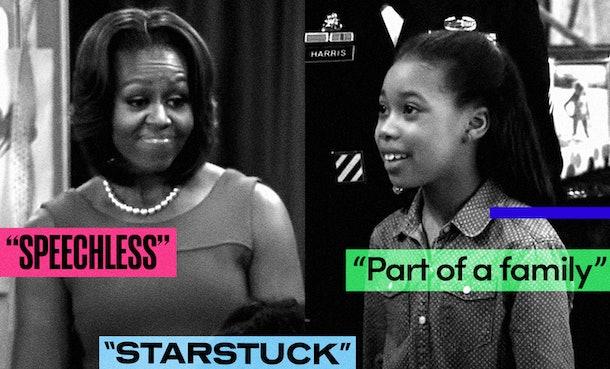 Michelle Obama and Kyla-Drew on Disney Channel's 'Jessie'