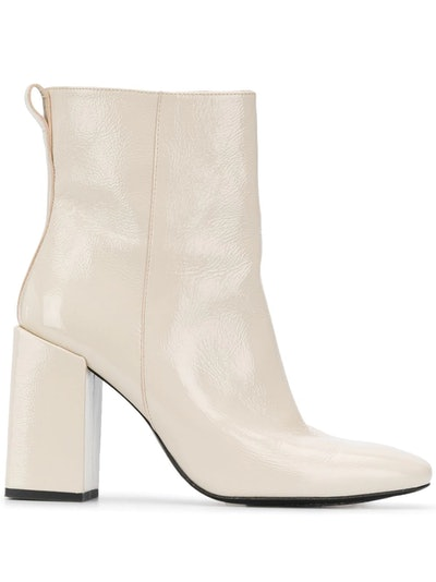 Chunky Heel 100mm Ankle Boots