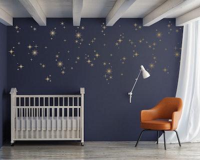 Sparkly Starburst Vinyl Wall Decals