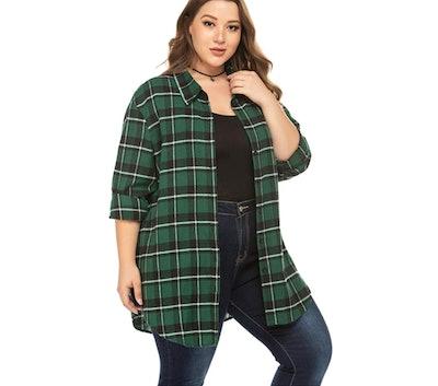 IN'VOLAND Plus Size Flannel