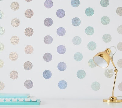 Holographic Confetti Dots Wall Decals