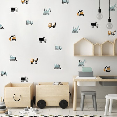 Construction Is King Wall Stickers