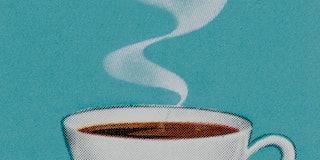 Caffeine and workouts: steaming mug of coffee