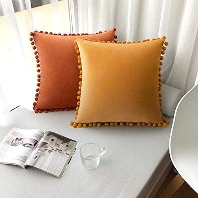 Woaboy Velvet Throw Pillow (2-Pack)