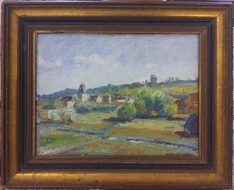 Unknown Barbizon School Landscape, Près de Bec de Mortagne. Late 19th Century