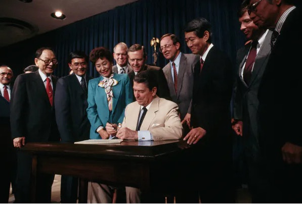 The Civil Liberties Act of 1988 could serve as an example.