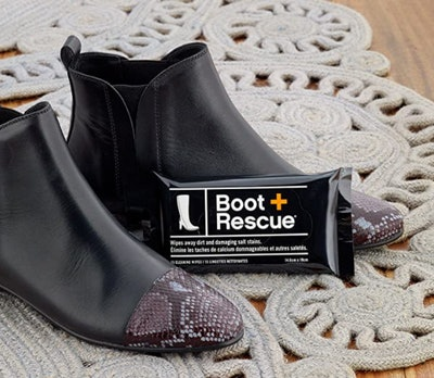 BootRescue All Natural Cleaning Wipes for Leather & Suede Shoes (15 Count)