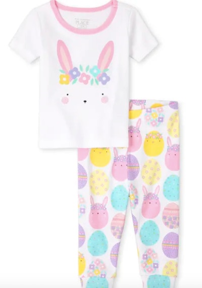 Baby And Toddler Girls Easter Bunny Snug Fit Cotton Pajamas
