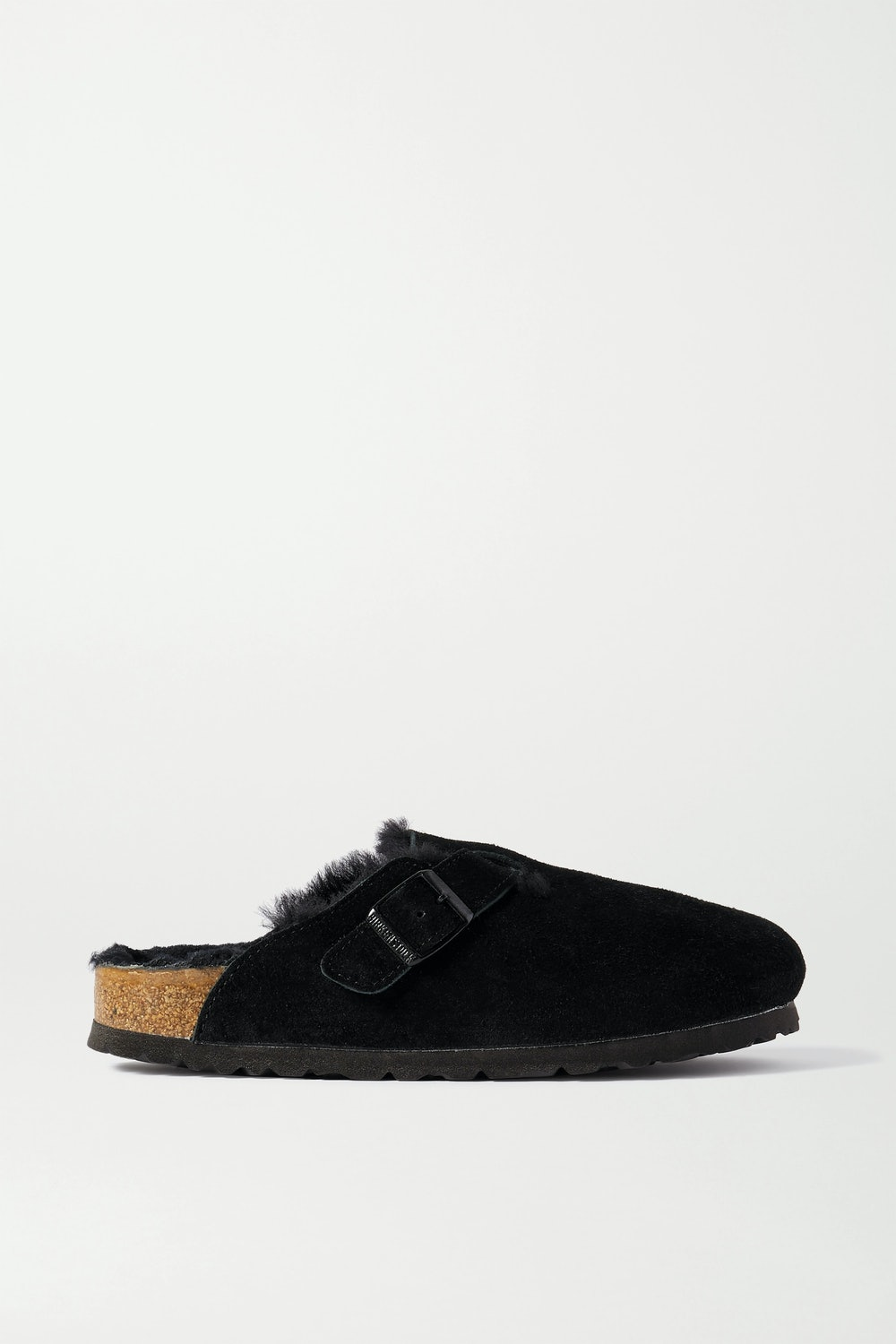 Boston shearling-lined suede slippers