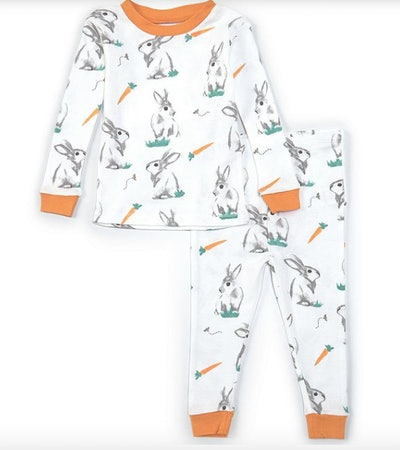 Burt's Bees Long-Sleeve Easter Rabbit Habit Pajama Set