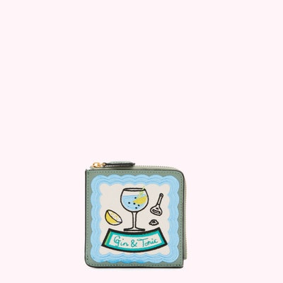 Sage Gin & Tonic Square Coin Purse