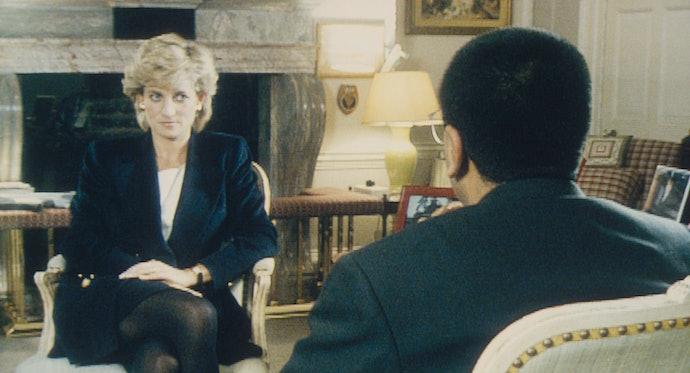 Martin Bashir interviews Princess Diana in Kensington Palace.