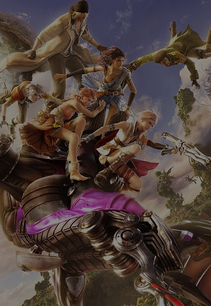 characters from ffxiii posing