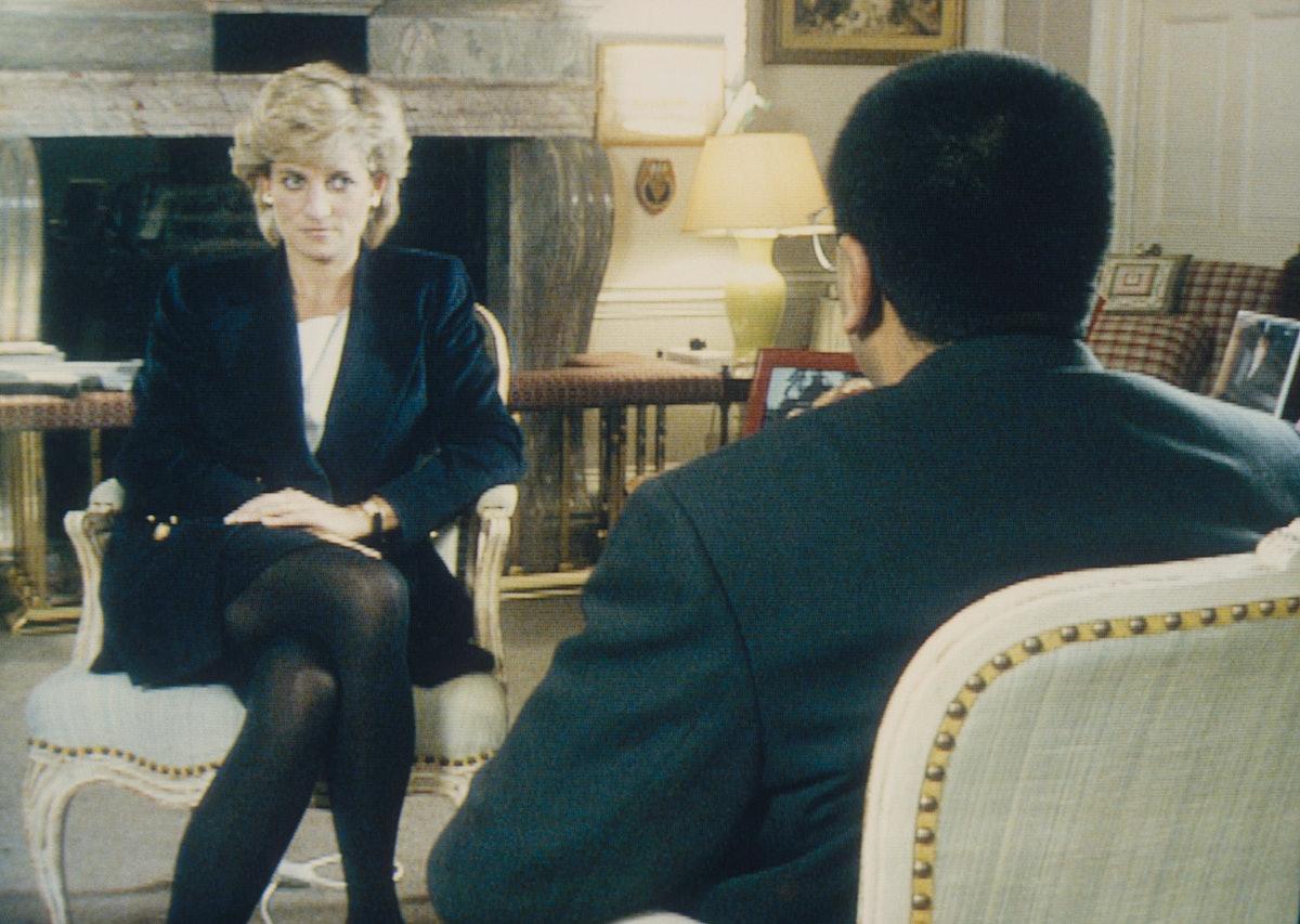 Martin Bashir interviewing Princess Diana in Kensington Palace.