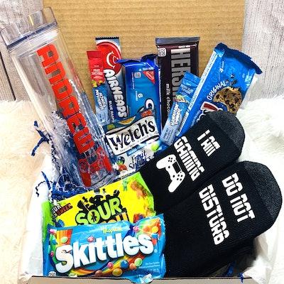 Teen Gamer Gift Basket