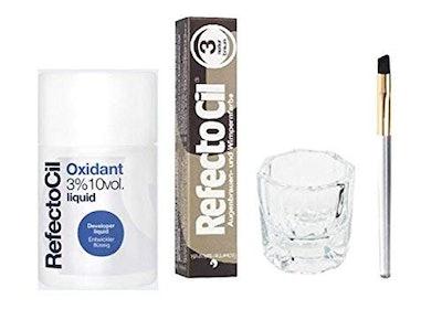 Natural Brown Cream Hair Dye+ Liquid Oxidant