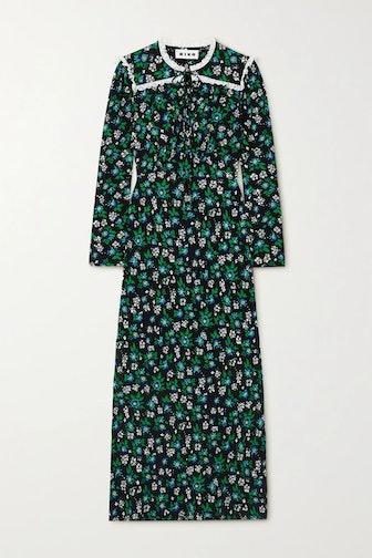Ada Lace-Trimmed Midi Dress