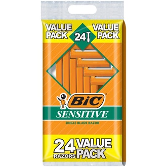 BIC Sensitive Single Blade Razor 24 Pack