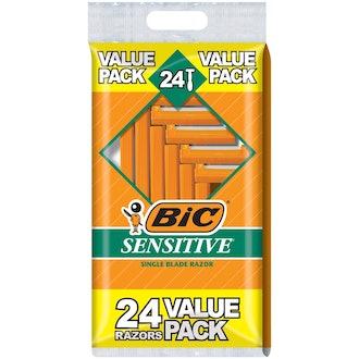 BIC Sensitive Single Blade Razor 24 Pack