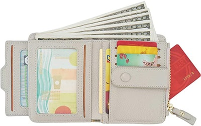 ZOOEASS RFID Mini Leather Bifold Wallet