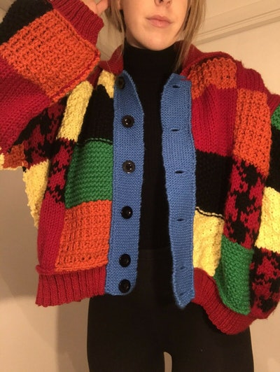 Handmade Harry Styles Patchwork Cardigan