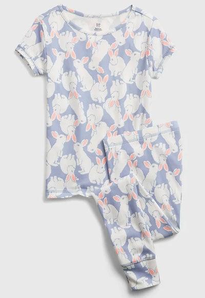 Kids Organic Cotton Bunny PJ Set