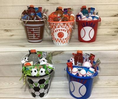 Pre-Filled & Personalized Sports Baskets