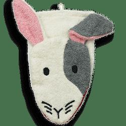 Organic Cotton Bunny Washcloth Puppet