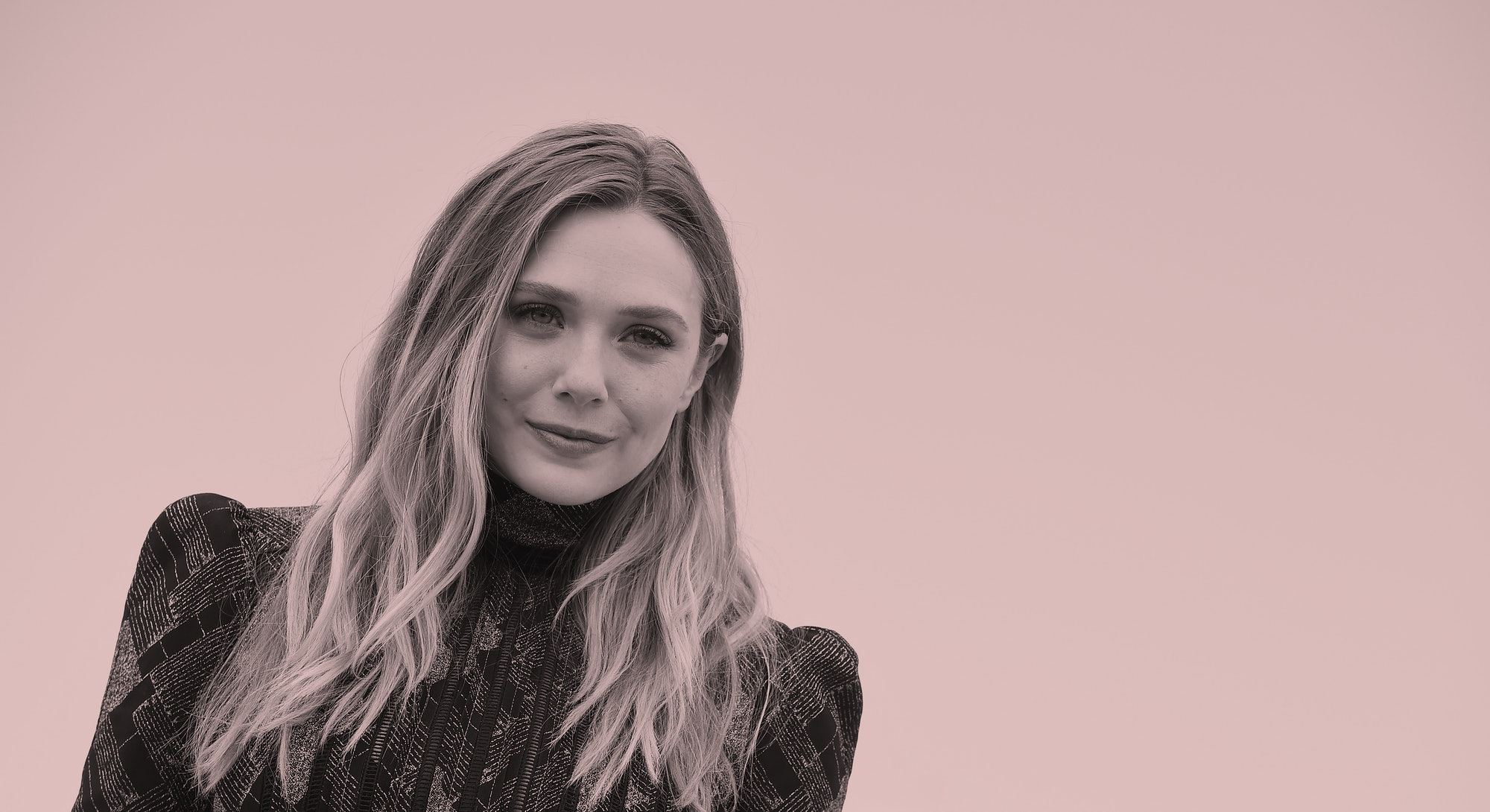 Elizabeth Olsen wearing black dress