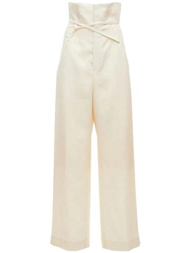 La Pantalon Novio in Light Beige