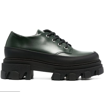 Ganni Chunky Sole Oxford Shoes