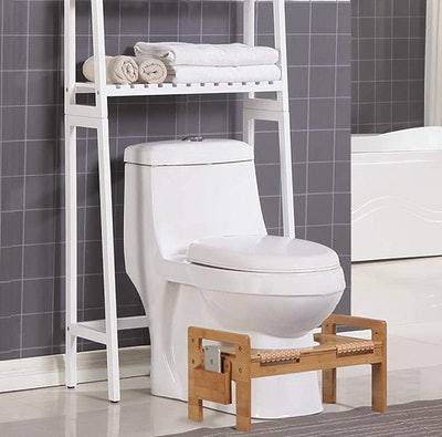 MallBoo Adjustable Bamboo Toilet Stool
