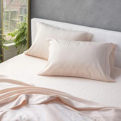 Welhome Cotton Tencel Sateen Sheet Set