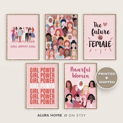 Alura Home Prints Set of 5 Feminist Prints