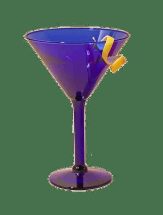 Cobalt Blue Martini Glass Set