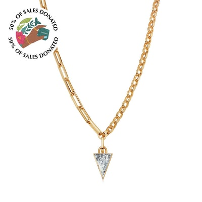 Dendritic Triangle Chain Necklace