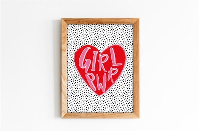 Lucy Be Prints Girl Power Print