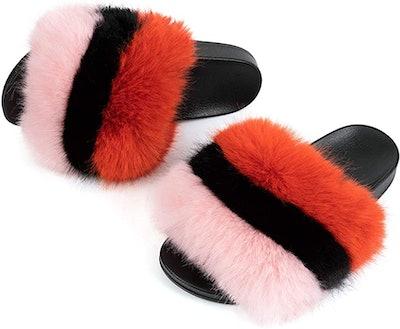 FUNKYMONKEY Faux-Fur Slippers