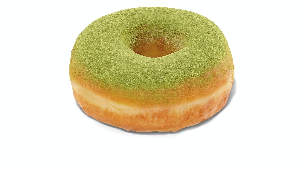 Dunkin's St. Patrick's Day 2021 donut combines green tea and traditional glaze.