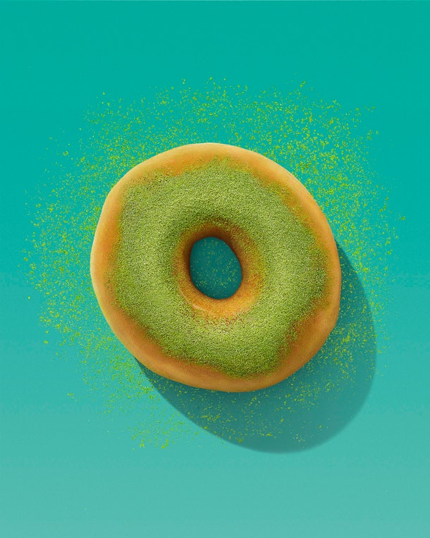 Dunkin's St. Patrick's Day 2021 donut is offering up a green tea theme.