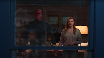 Wanda and Vision in the 'WandaVision' Season 1 finale